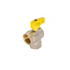Кран газовый шаровый угловой СТМ 3/4 дюйма вв