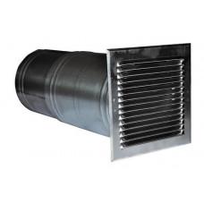 Воздуховод для прохода через стены диам. 160 мм, с решеткой