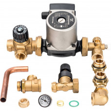 *SDG-0020-002002 STOUT Насосно-смесительный узел с термостатическим клапаном и байпасом; Grundfos UPSO 25-65 130