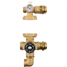 *SDG-0020-001000 STOUT Насосно-смесительный узел с термостатическим клапаном, без насоса