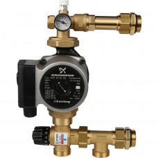 *SDG-0020-004001 STOUT Насосно-смесительный узел с термостатическим клапаном 20-43°C, с насосом