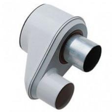 Адаптер для перехода с раздельных труб диам. 80 мм на коаксиальную диам. 125/80 мм для конденсационных котлов Baxi Twin pipe flue adptr