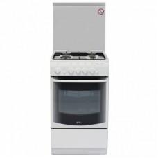 Газовая плита De Luxe 5040.44г (кр) чуг. решетки белый