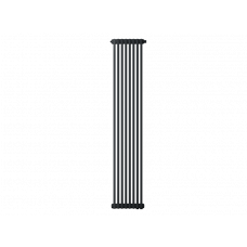 Радиатор труб. Zehnder Charleston 2180, 08 сек.1/2 бок.подк. RAL9017matt (9217) (кроншт.в компл)
