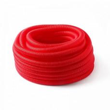 Труба защитная гофрированная для труб 16 мм (красный) Dн 25 мм