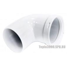 Колено дымохода 90 °, Ø 80 мм, KIT (BCSA) 0497