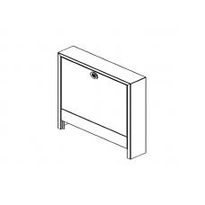 Шкаф коллекторный, приставной, тип AP 130/1353, белый