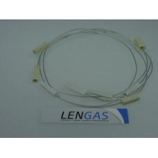 Комплект проводов к разрядникам для газовой плиты Дарина 441,442,Нева (320мм-2шт,470мм-2шт)